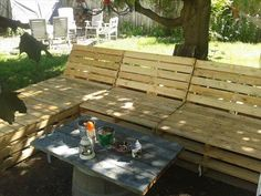 DIY Pallet Outdoor Sectional Furniture