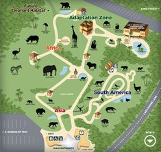 Where I currently work-Reid Park Zoo, Tucson AZ. Beautiful weather all year round, incredible staff and a new state of the art elephant exhibit. The Zoo, Zoo Park, Elephant Habitat, Zoo Architecture, Site Design, Aerial View, South America, Habitats, Planets
