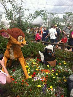 Epcot Flower & Garden photo of Bambi & Thumper