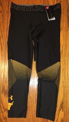 6ffc423965 NWT Men s Under Armour x Project Rock HeatGear Vanish Leggings Black Size   Large  fashion
