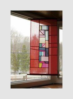 #Jogakbo#Patchwork#조각보#규방공예#내가만든조각보 Traditional Interior, Korean Traditional, Traditional Furniture, Korean Crafts, Window Coverings, Window Treatments, Patchwork Curtains, Fiber Art Quilts, Korean Design