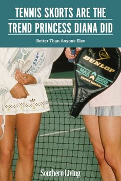 Princess Diana's legendary tennis skirt outfit is inspiring the 2021 trend that I'm planning to wear all spring and summer long. #tennisskorts #tennisskirts #southernstyle #southernliving Southern Fashion, Southern Style, Tennis Skirts, Match Point, Long Shorts, Princess Diana, Cheetah Print, Skort, Short Skirts