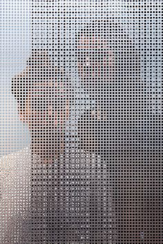Intriguing Photographs Of People Shot Through Perforated Screens | Raw Color | DesignTAXI.com