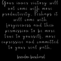 Inner #victory. Not from just achieving but from being true to self  #motivation #secondchances