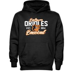 Baltimore Orioles Youth Script Baseball Pullover Hoodie - Black - $23.99