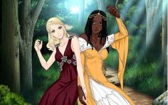 Aelin and Nehemia by msbrit90 on DeviantArt
