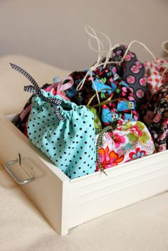 I am so doing this! We have an entire BOX of electronics stuff that needs to be organized. --DIY: Organise your electronic drawer by sewing each category its own little bag