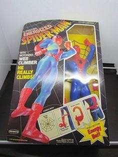 1979 Vintage Remco Energized SPIDER-MAN Action Figure Toy Marvel Comics MINT!
