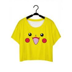 Pikachu Crop T-Shirt
