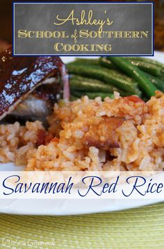 School of Southern Cooking: Savannah Red Rice Recipe by 3 Little Greenwoods