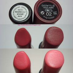 Mac 'Nouvelle Vogue' mat ruj ile Golden Rose Velvet Matte Ruj No: 02 benziyor mu ne??