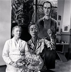 Charley Toorop in front of her self-portrait, Bergen ca 1950 -by Eva Besnyö Interesting photographic portrait and interesting self-portrait of Charley Toorop who represent herself between the bust of the painter Jan Toorop (her father) and the. Emily Carr, Louise Bourgeois, Sonia Delaunay, Joan Mitchell, Helen Frankenthaler, Amsterdam, Z Arts, Dutch Painters, Portraits