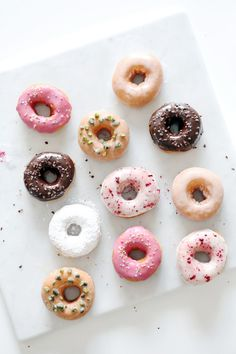 An assortment of doughnuts | Natalie Eng | Pâtisserie & Food Photography