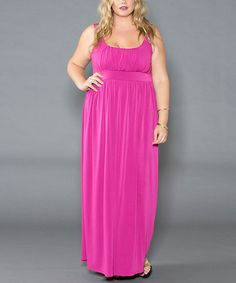 Look at this #zulilyfind! Magenta Kathryn Maxi Dress - Plus by Sealed With a Kiss Designs #zulilyfinds