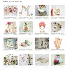 Mother's Day with Shabby Chic   Curator: Elena Doniy from https://www.etsy.com/shop/Vualia #etsy #etsytreasury #handmade #gifts #floral #flower #photography #print #wedding #jewelry #painting #watercolor #pink #mothersday #greetingcards #shabbychic #boho #papercrafts #porcelain #vintagecards #instantdownload #bridalparty #bohohair #bohochic #treasury #giftideas