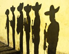 Love this silhouette of mariachis, reminds me of the last scene of THE HIDDEN LIGHT OF MEXICO CITY http://carmenamato.net