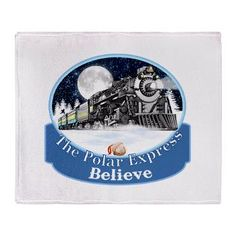 The Polar Express Train in the snow from the Movie, #ThePolarExpress, I Believe, Sleigh Bells, #Santa Clause, beautiful #Christmas t-shirts, sweatshirts and gifts