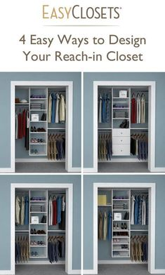 4 Ways to Design Your Reach-in Closet