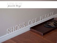 Ways to Get People to Remove Shoes at Door - Home Cleaning Tips