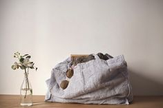Cabas linge particulier by LINEN AND MILK