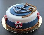 Námornícke torty Anchor Birthday Cakes, Anchor Cakes, Birthday Cakes For Men, Sea Cakes, Baby Cakes, Baby Shower Cakes, Cupcake Cakes, Cake Decorating Designs, Cake Designs