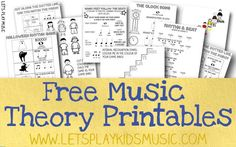Read Music Free Resources - Free Sheet Music and Theory Printables - Let's Play Music - Free sheet music of traditional nursery rhymes and children's songs and free fun and easy music theory printable worksheets for kids. Lets Play Music, Music For Kids, Preschool Music, Music Activities, Leadership Activities, Group Activities, Physical Activities, Teaching Resources, Piano Lessons