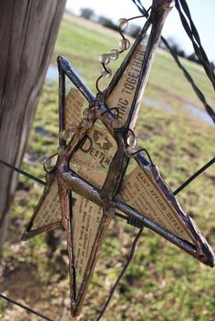 Stained Glass Star with Seeded Glass by trinketstotreasures, $55.00
