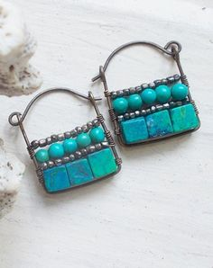 Turquoise jewelry designs | thinking I could do this.