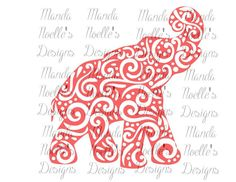 Alabama Swirl Elephant SVG or Silhouette Instant by MandaNoelle