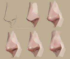 Nose tutorial. Step by step by *FeliceMelancholie on deviantART