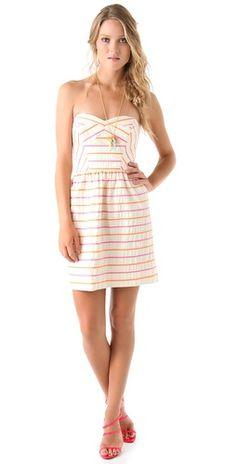 Fun and Flirty Summer - Frannie Striped Strapless Dress / Shoshanna Pretty Outfits, Pretty Dresses, Cute Outfits, Love Fashion, Girl Fashion, Fashion Outfits, I Dress, Strapless Dress, Casual Dresses