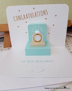 Congratulations pop up engagement card Fab by cherishthememorycouk