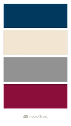 Navy, Champagne, Classic Gray, and Burgundy Wedding Color Palette - custom color palette created at MagnetStreet.com