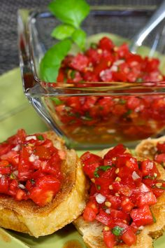 ··· Classic Bruschetta ···    I want it NOW. And a lot.  Maybe 45.  Two for you & 43 for me. I'm not that selfish type of girl you know :-) And please NO GARLIC for me. My Armani Code is not used to that.