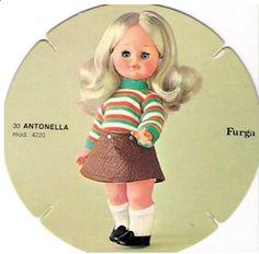ANTONELLA, 30 CM, ANNI 70  FURGA catalogo dolly do