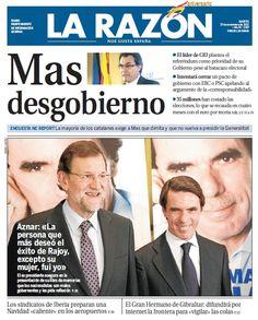 La Razón, 27 de noviembre de 2012
