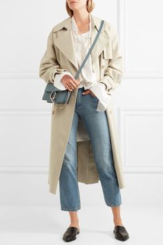 CHLOÉ Faye small attractive leather and suede shoulder bag