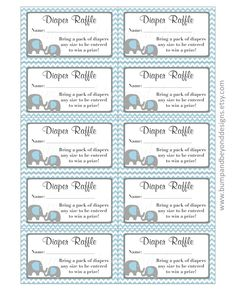 Diaper Raffle Tickets add a fun touch to your baby shower! We at Bump and Beyond Designs love to help you celebrate lifes precious moments!  These printable Diaper Raffle Tickets come in super cute designs and can be customized. If you prefer a different color, please send me a convo. You will receive one 8.5x11 PDF file with 10 tickets per page and can print as many pages as you like. Each ticket measures 2x3.5.  Please note: This is a PRINTABLE listing and no physical product will be…