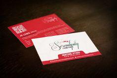 Serendipity Vineyard business card design