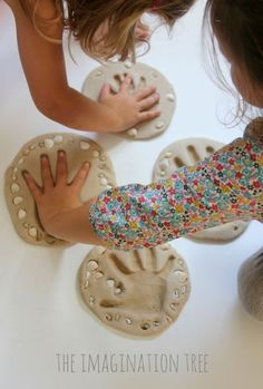 Sand clay keepsake craft for kids Crafts for kids Sand Clay Recipe and Handprint Keepsakes - The Imagination Tree Clay Crafts For Kids, Arts And Crafts, Kids Clay, Clay Projects For Kids, Kids Beach Crafts, Sand Art Crafts, Dog Crafts, Seashell Crafts, Baby Crafts