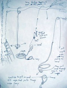 How to Secure a Rope Swing Without Climbing a Tree   love this tutorial!