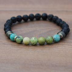 I am Energy Men's Affirmation Chakra Bracelet