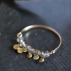 anel  & labradorites...