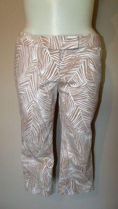Talbots 14WP Plus Multi-Color Floral Capri Pants Waist 34 Inseam 21 Rise 10 EUC #Talbots #CaprisCropped