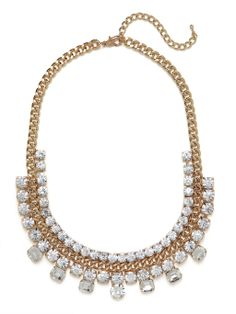 Triple Ice Chain Strand Necklace | BaubleBar