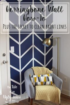 Herringbone Wall How-To 2019 Herringbone Wall How-To Sincerely Marie Designs The post Herringbone Wall How-To 2019 appeared first on Nursery Diy. Accent Wall Bedroom, Bedroom Decor, Wall Decor, Painters Tape Design, Diy Wall Painting, Painting Designs On Walls, Herringbone Wall, Accent Wall Designs, Diy Home