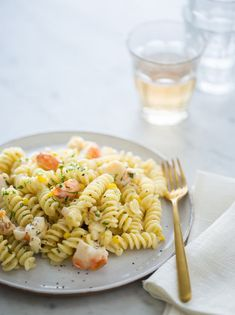 Lobster and Corn Pasta with White Wine and Tarragon Cream Sauce from Spoon Fork Bacon Lobster Recipes, Seafood Recipes, Pasta Recipes, Cooking Recipes, Cooking Tips, Corn Recipes, Sauce Recipes, Fish Recipes, Yummy Recipes