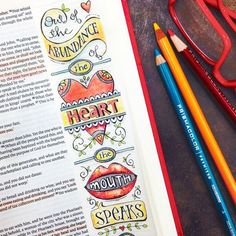 Out of the Abundance of the Heart... Bible Journalling Inspiration... Karla Dornacher