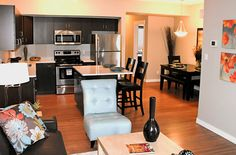 The kitchen in our show suite #homes