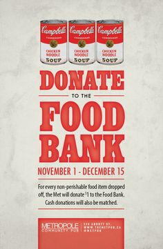 Foodbank Poster 2013